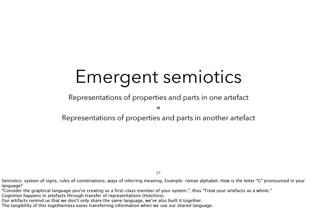 Representations of properties and parts in one ...