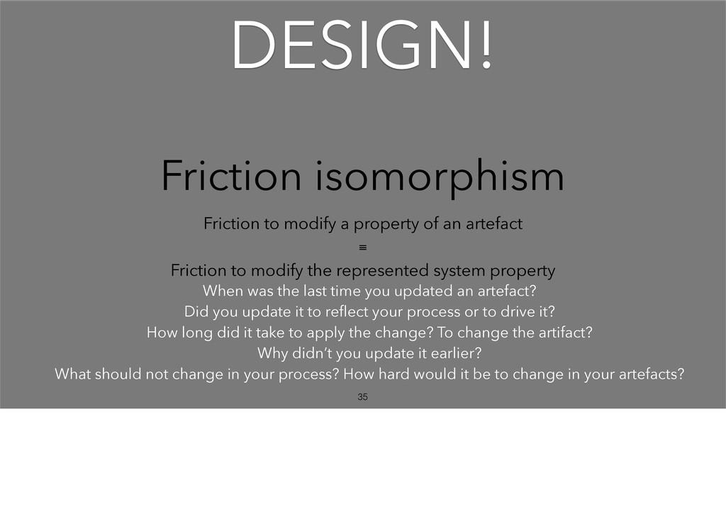 Friction isomorphism Friction to modify a prope...