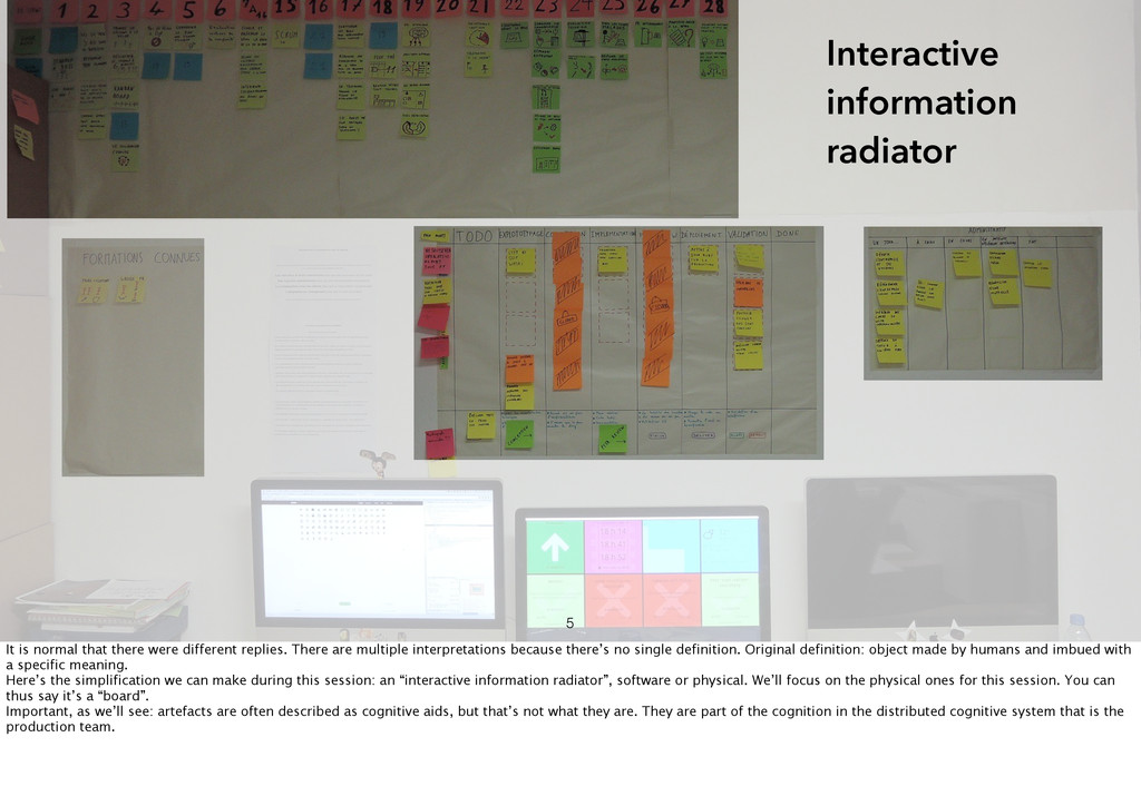 Interactive information radiator 5 It is normal...