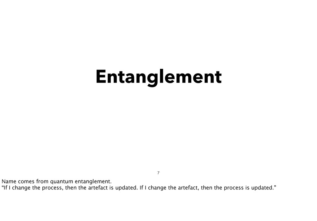 Entanglement 7 Name comes from quantum entangle...