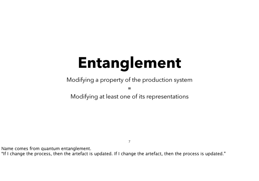 Entanglement Modifying a property of the produc...