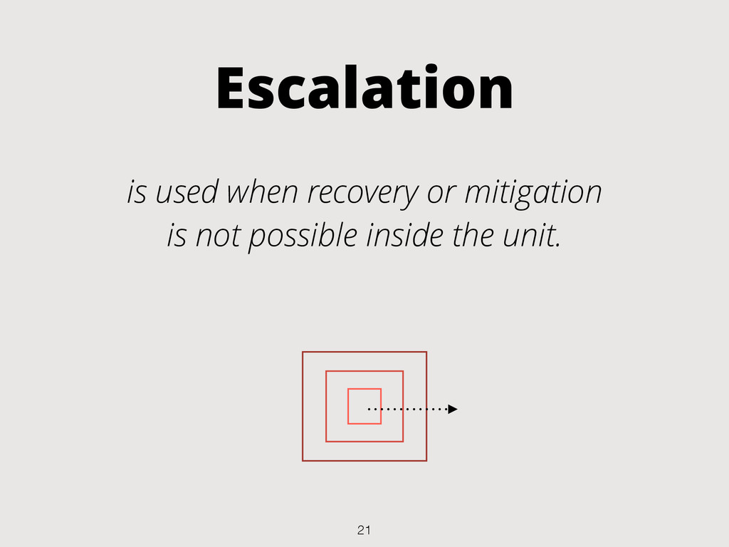 Escalation is used when recovery or mitigation ...
