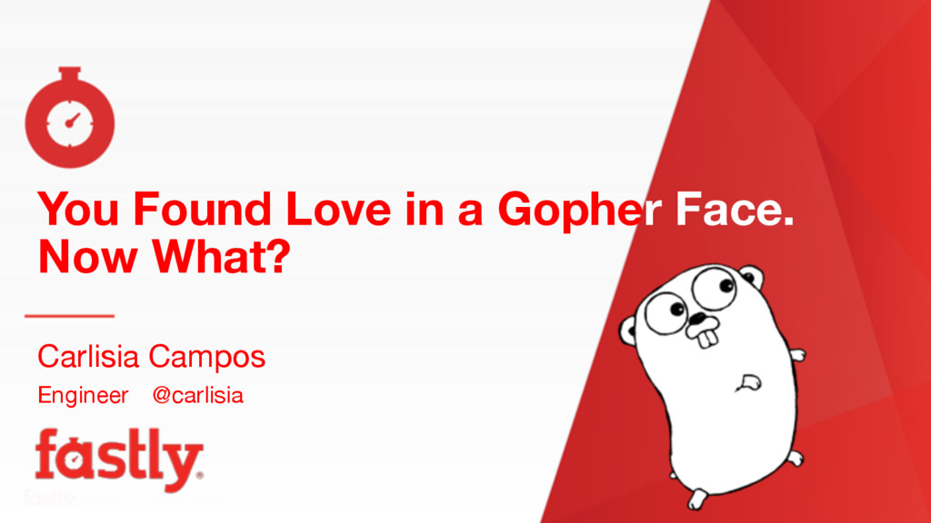 Name of Presentation You Found Love in a Gopher...