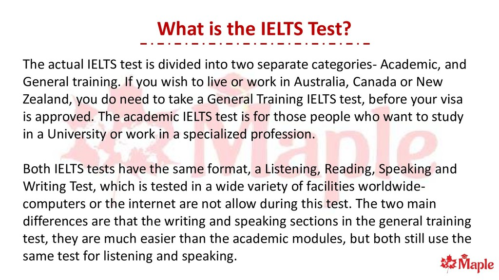 What is the IELTS Test? The actual IELTS test i...