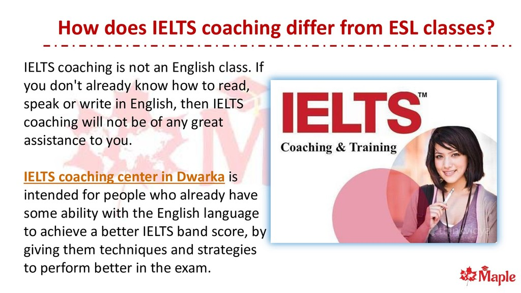 How does IELTS coaching differ from ESL classes...