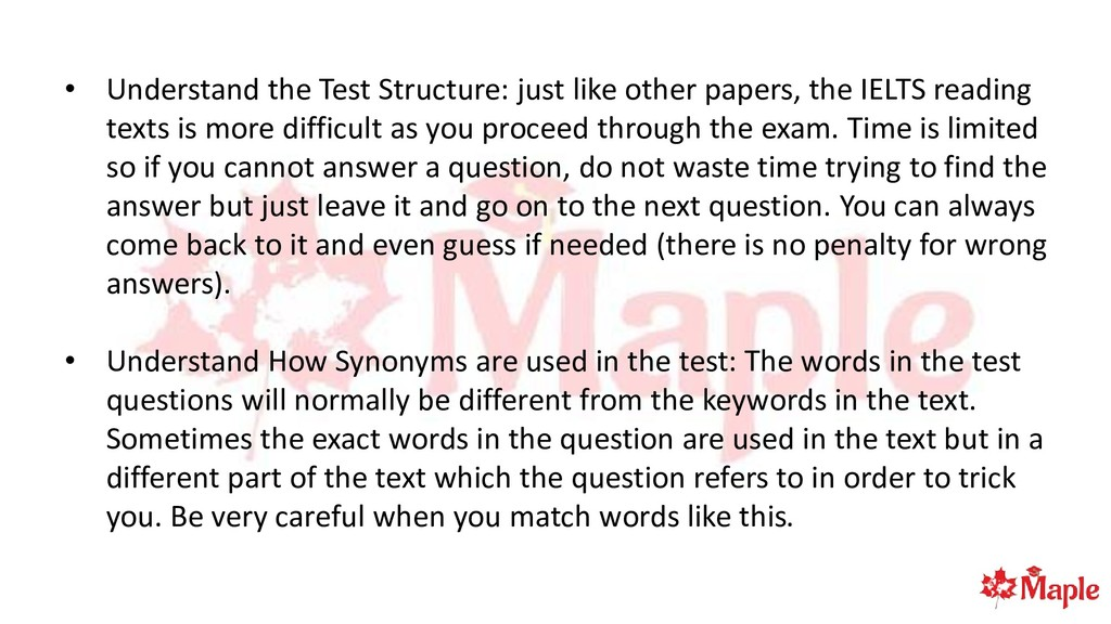 • Understand the Test Structure: just like othe...