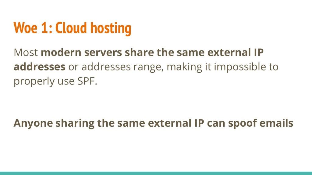 Woe 1: Cloud hosting Most modern servers share ...