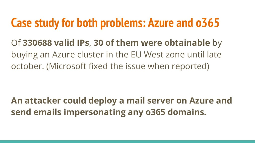 Case study for both problems: Azure and o365 Of...