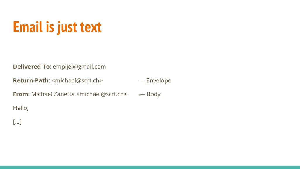 Email is just text Delivered-To: empijei@gmail....