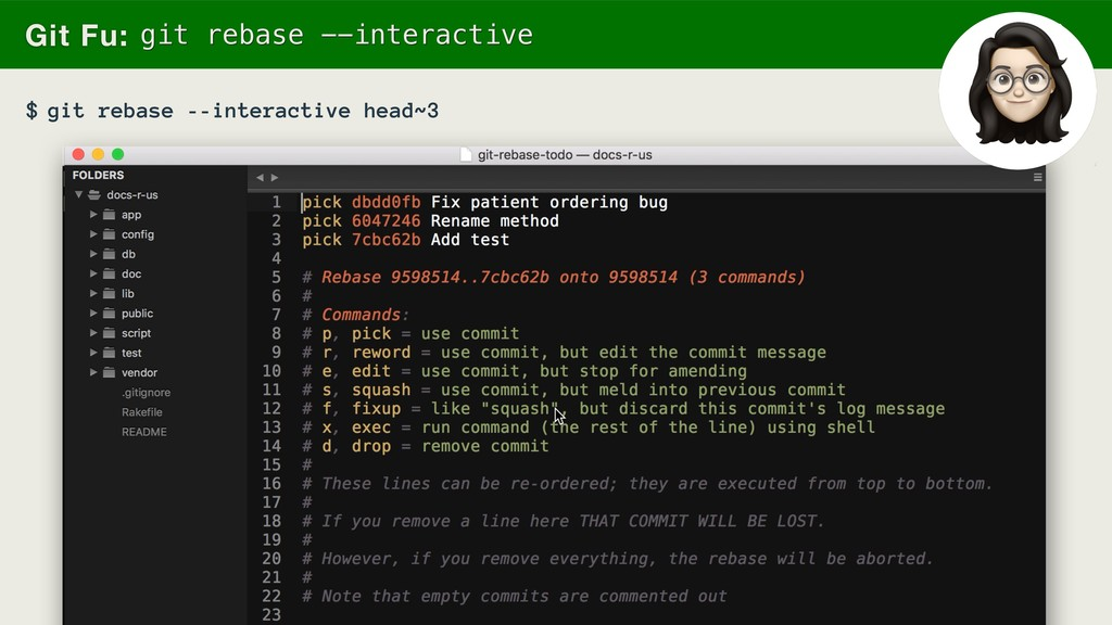 git rebase --interactive head~3 Git Fu: git reb...