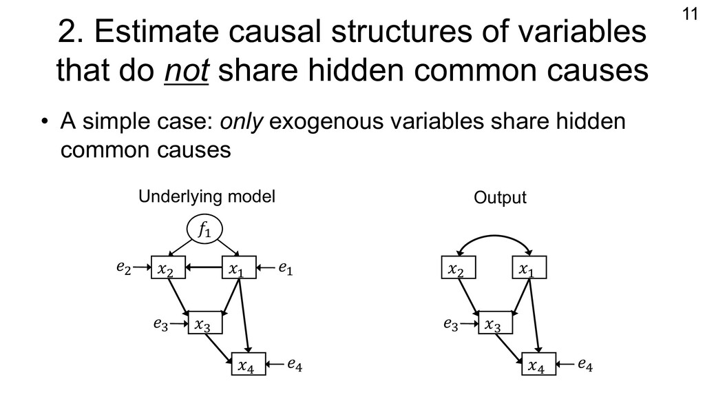 2. Estimate causal structures of variables that...