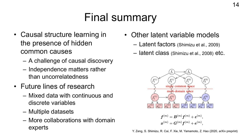 Final summary • Causal structure learning in th...