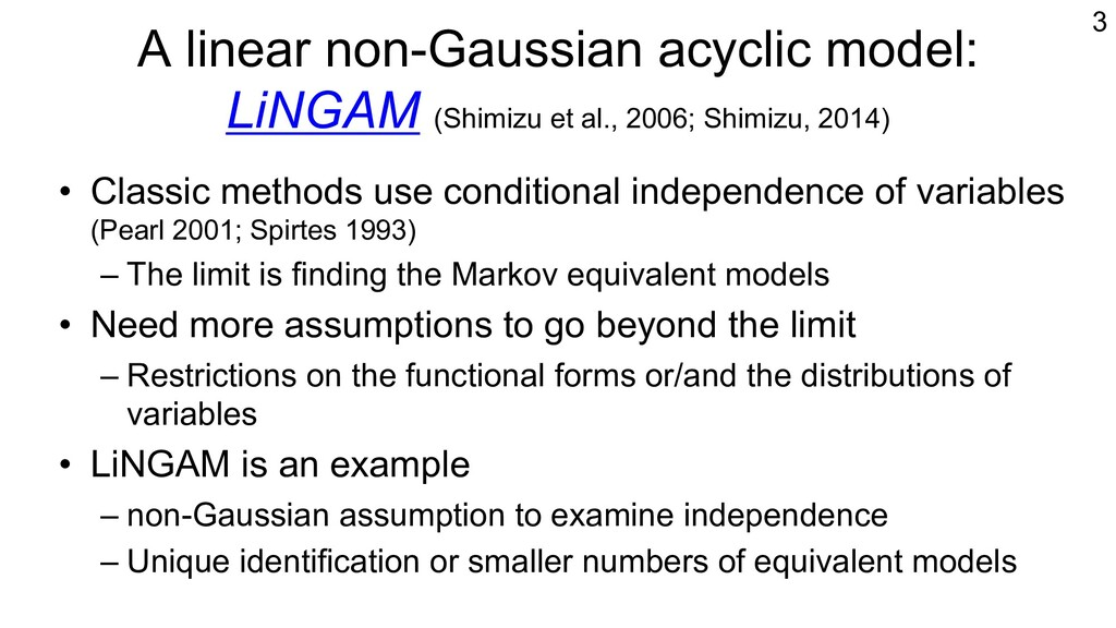 A linear non-Gaussian acyclic model: LiNGAM (Sh...
