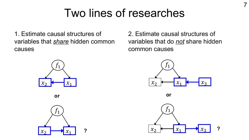 Two lines of researches 1. Estimate causal stru...
