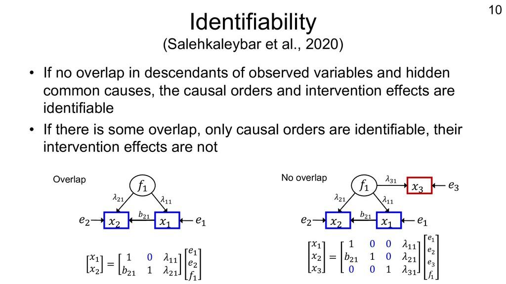 Identifiability (Salehkaleybar et al., 2020) • ...