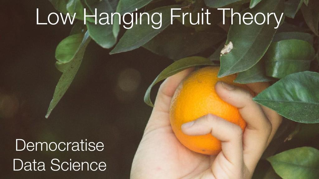 Low Hanging Fruit Theory Democratise Data Scien...