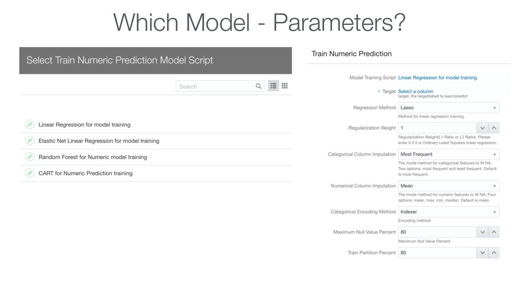 Which Model - Parameters?