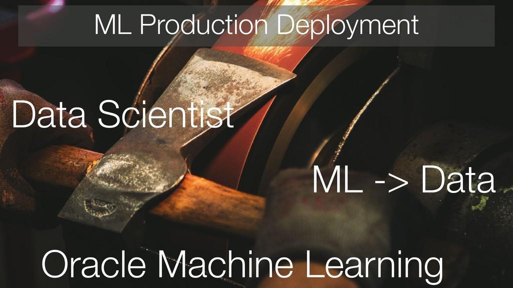 ML Production Deployment Data Scientist ML -> D...