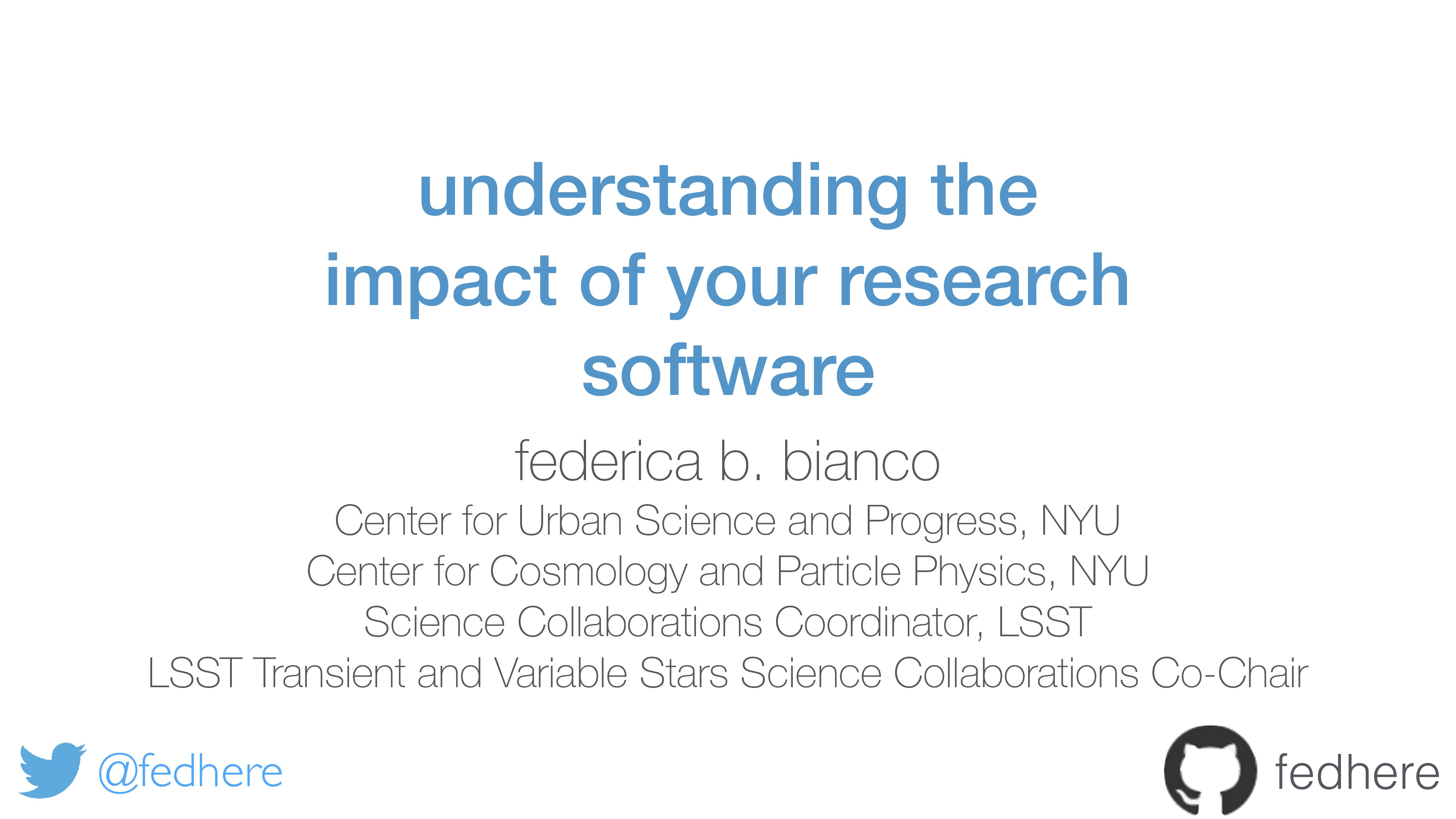 understanding the impact of your research softw...