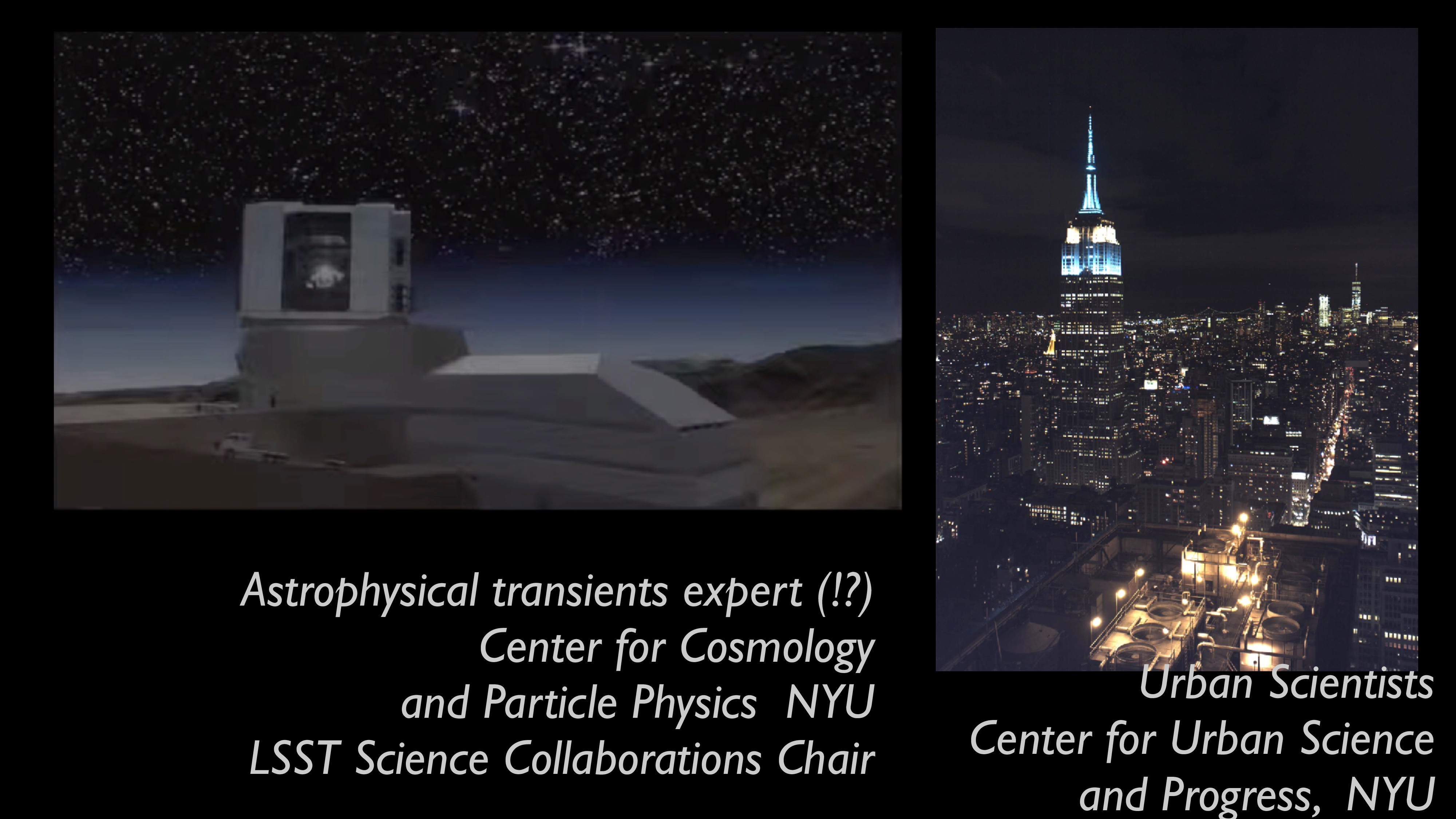 Urban Scientists Center for Urban Science and P...