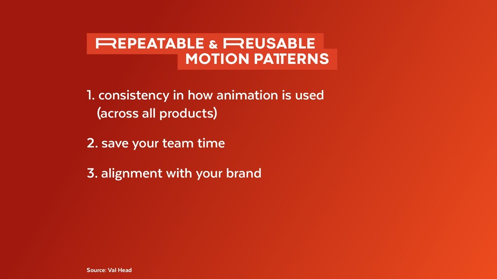 1. consistency in how animation is used (across...