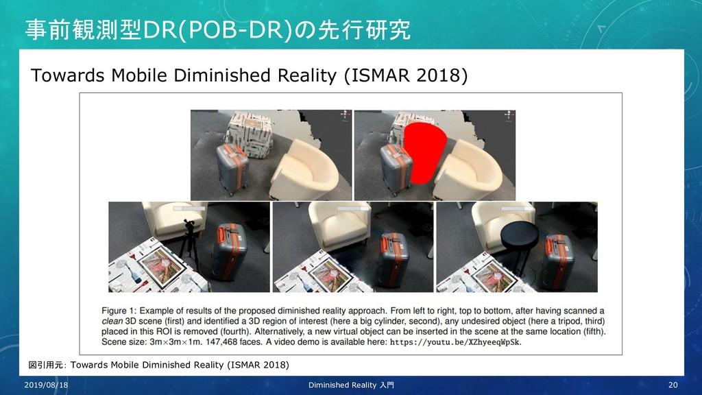 事前観測型DR(POB-DR)の先行研究 Towards Mobile Diminished ...