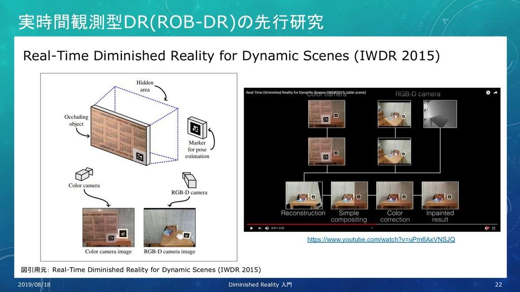 実時間観測型DR(ROB-DR)の先行研究 Real-Time Diminished Real...