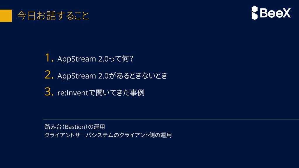 今日お話すること 1. AppStream 2.0って何? 2. AppStream 2.0が...