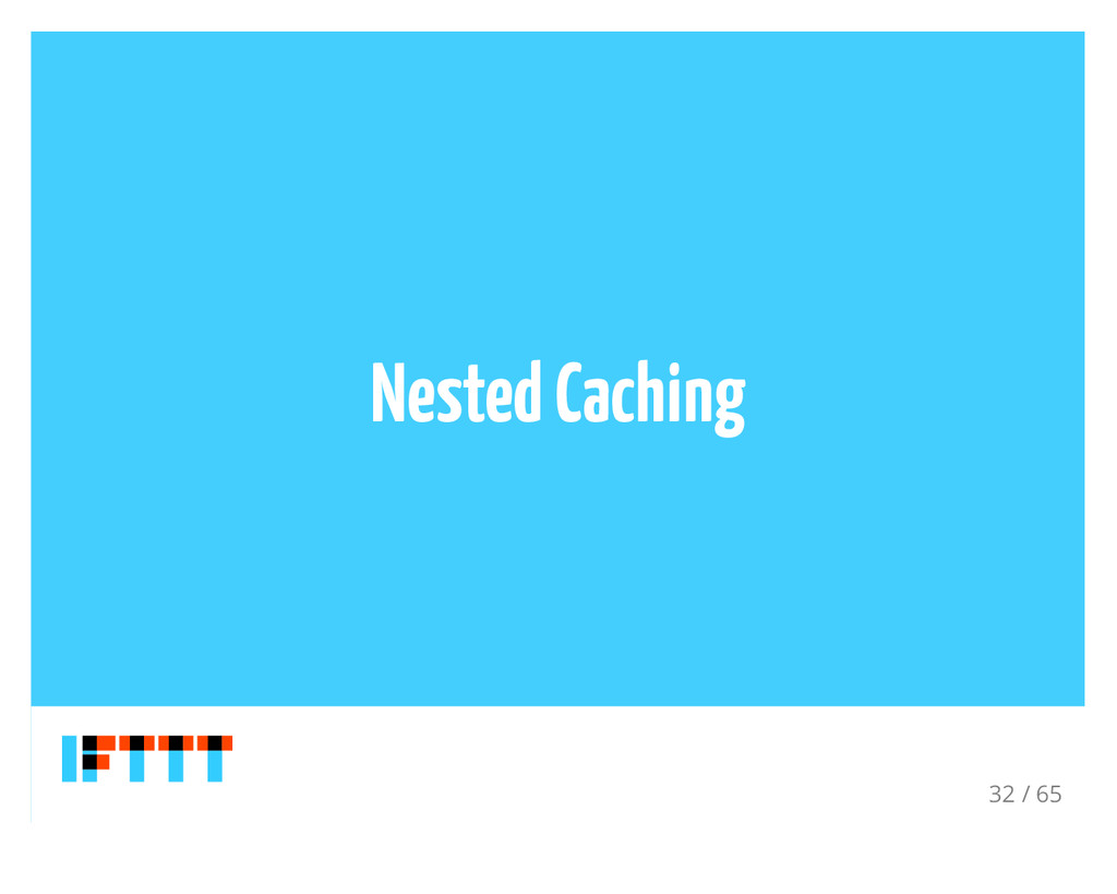 Nested Caching 32 / 65
