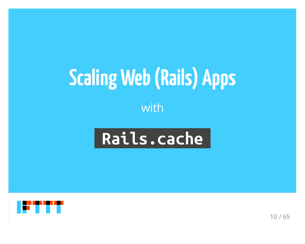 Scaling Web (Rails) Apps with Rails.cache 10 / ...