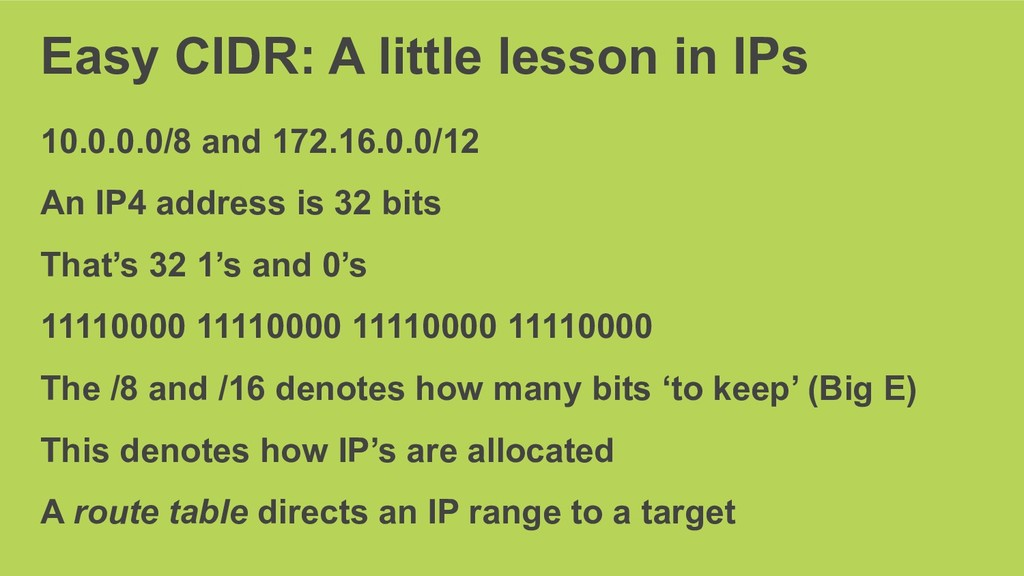 Easy CIDR: A little lesson in IPs 10.0.0.0/8 an...