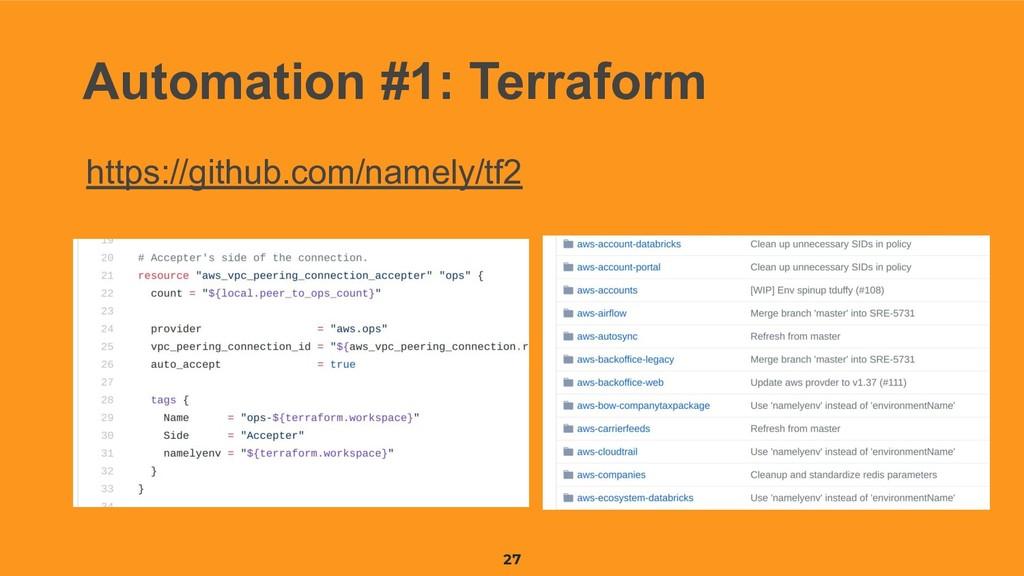 27 Automation #1: Terraform https://github.com/...