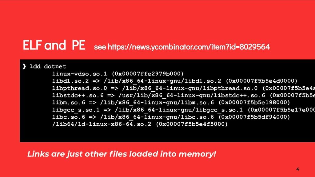 ELF and PE see https://news.ycombinator.com/ite...