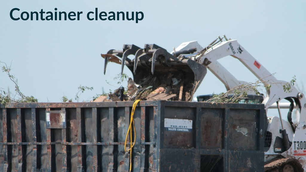 Container cleanup