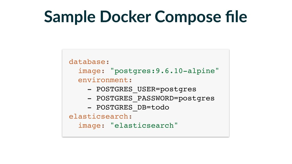 Sample Docker Compose file database: