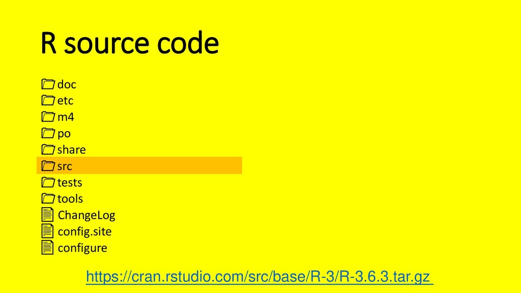 R source code doc etc m4 po share src tests too...
