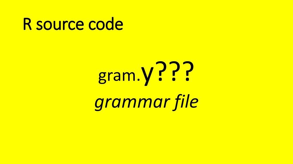 R source code gram.y??? grammar file