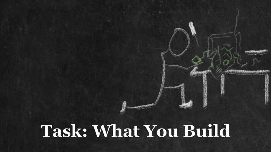 Task: What You Build
