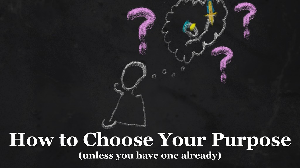 How to Choose Your Purpose (unless you have on...