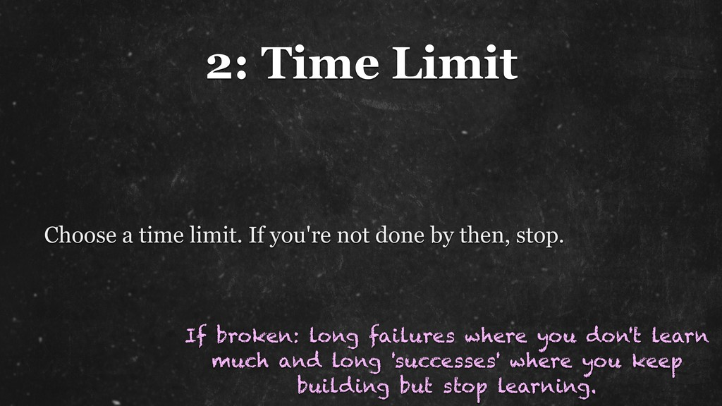 2: Time Limit Choose a time limit. If you're no...