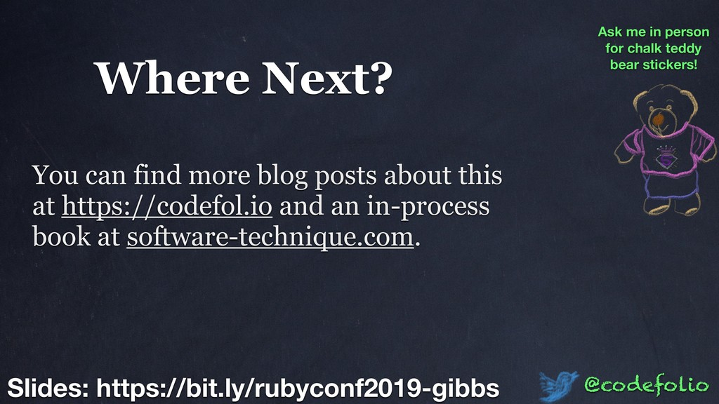 Where Next? @codefolio Slides: https://bit.ly/r...