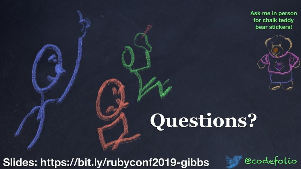 Questions? @codefolio Slides: https://bit.ly/ru...