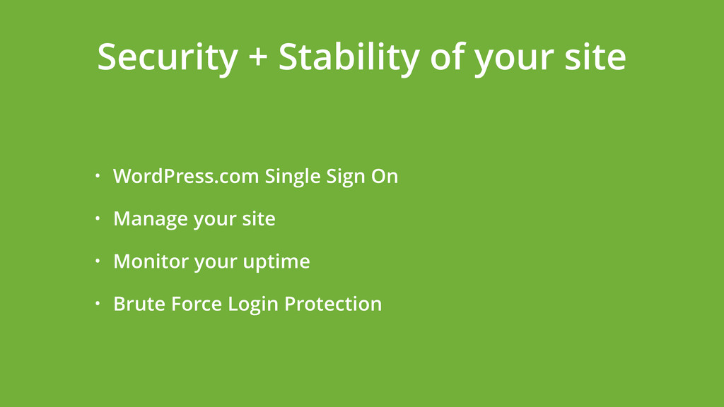 • WordPress.com Single Sign On • Manage your si...