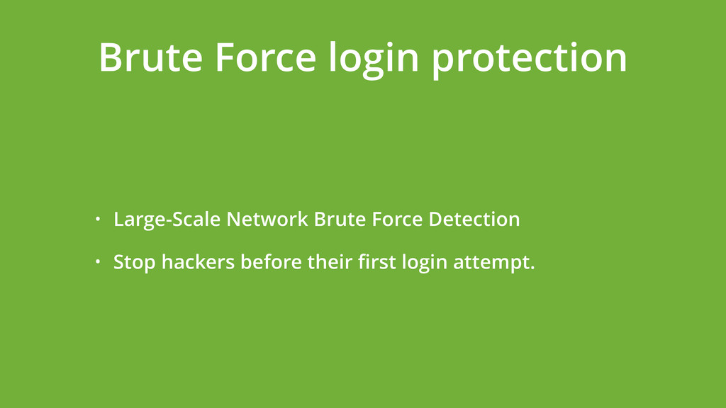 • Large-Scale Network Brute Force Detection • S...