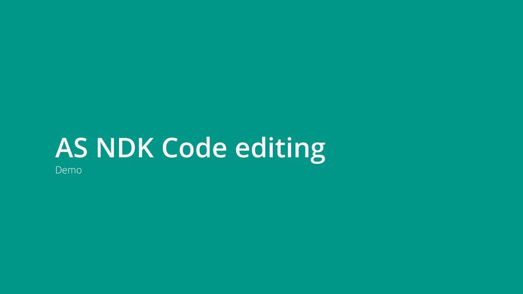 Demo AS NDK Code editing