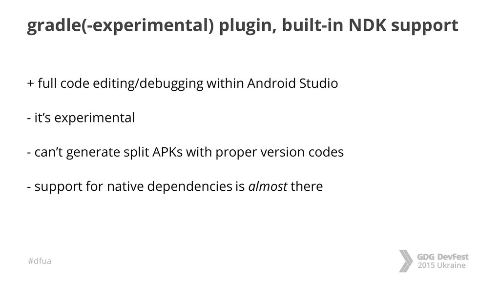 #dfua gradle(-experimental) plugin, built-in ND...