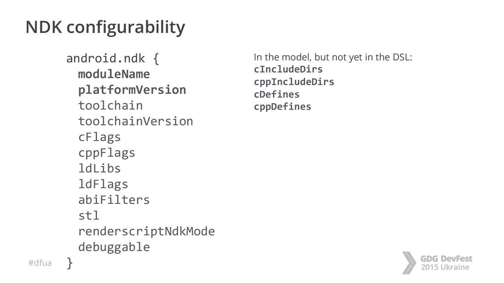 #dfua NDK configurability android.ndk { moduleN...