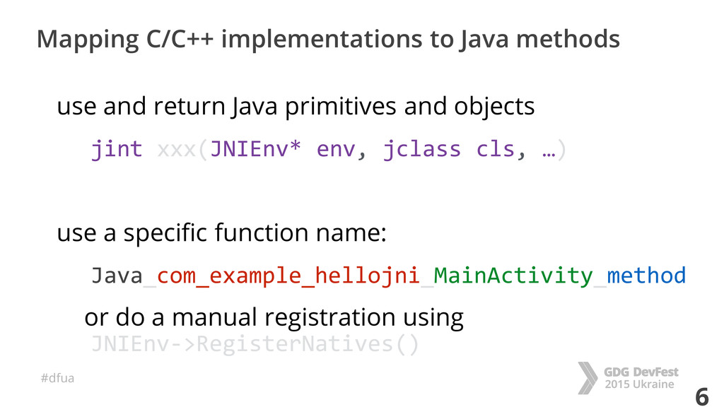 #dfua 6 Mapping C/C++ implementations to Java m...