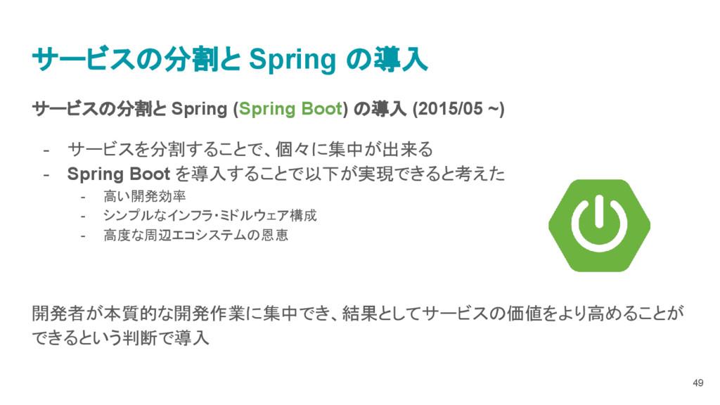 サービスの分割と Spring (Spring Boot) の導入 (2015/05 ~) -...