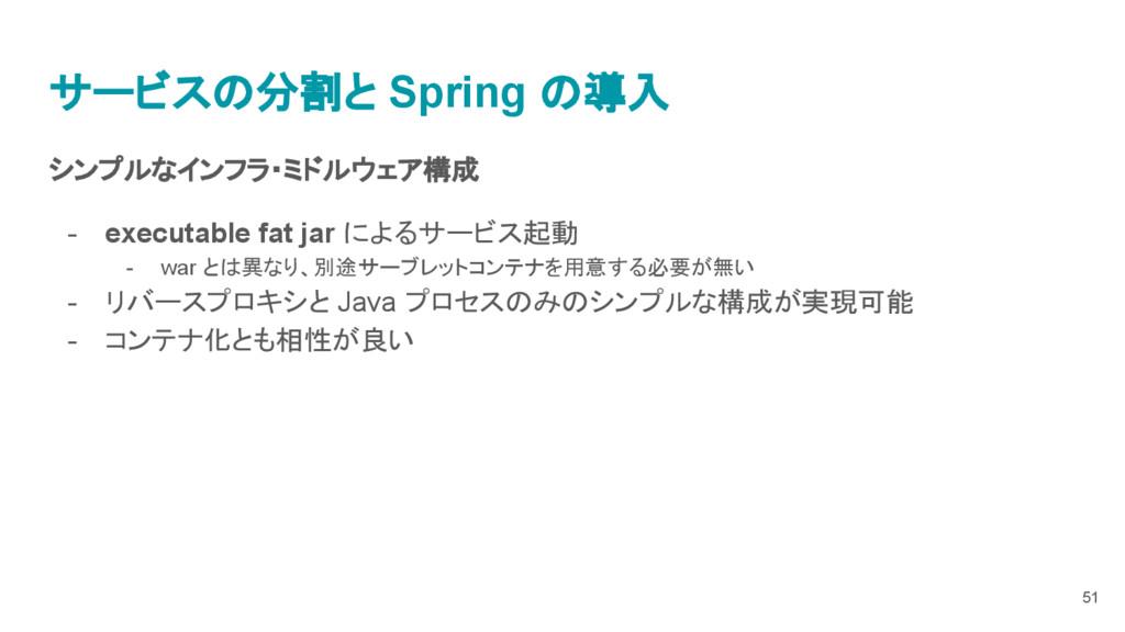 シンプルなインフラ・ミドルウェア構成 - executable fat jar によるサービス...